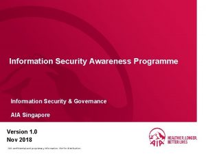 Information Security Awareness Programme Information Security Governance AIA