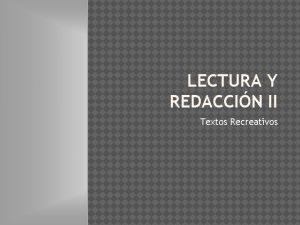 LECTURA Y REDACCIN II Textos Recreativos OBSERVA CON