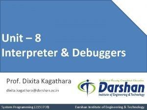 Unit 4 Unit 8 Pushdown Interpreter Debuggers Automata