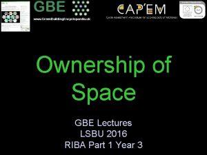 www Green Building Encyclopaedia uk Ownership of Space