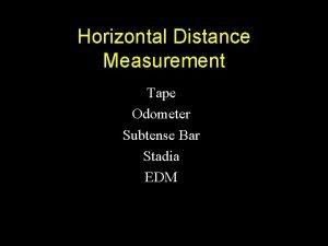 Horizontal Distance Measurement Tape Odometer Subtense Bar Stadia