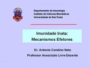Departamento de Imunologia Instituto de Cincias Biomdicas Universidade