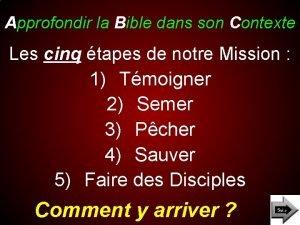 Approfondir la Bible dans son Contexte Les cinq