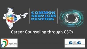 Career Counseling through CSCs Skill Development Skill India