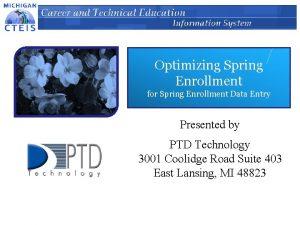 Optimizing Spring Enrollment for Spring Enrollment Data Entry