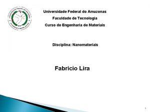 Universidade Federal do Amazonas Faculdade de Tecnologia Curso