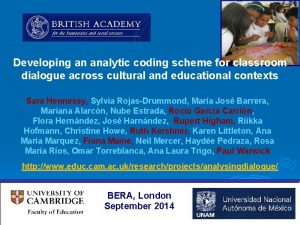 Developing an analytic coding scheme for classroom dialogue