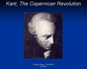Kant The Copernican Revolution Soazig Le Bihan University