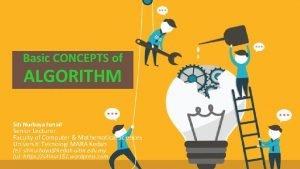 Basic Concepts CONCEPTS of Basic of Algorithm ALGORITHM