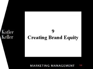 1 9 Creating Brand Equity Chapter Questions What