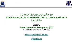 CURSO DE GRADUAO EM ENGENHARIA DE AGRIMENSURA E