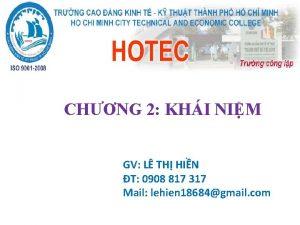 CHNG 2 KHI NIM GV L TH HIN