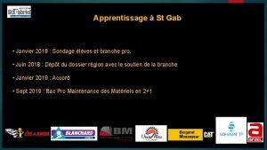 Apprentissage St Gab Janvier 2018 Sondage lves et