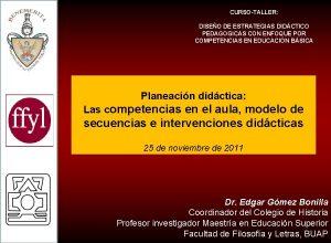 CURSOTALLER DISEO DE ESTRATEGIAS DIDCTICO PEDAGOGICAS CON ENFOQUE