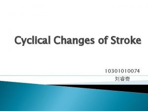Cyclical Changes of Stroke 10301010074 Classification Hemorrhagic stroke