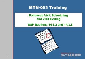 MTN003 Training Followup Visit Scheduling and Visit Coding