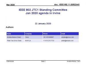 doc IEEE 802 11 200224 r 0 Mar