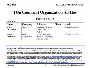 May 2006 doc IEEE 802 11 060647 r