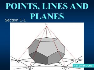 POINTS LINES AND PLANES Section 1 1 Jim