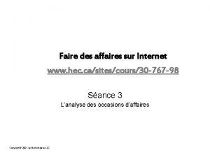 Faire des affaires sur Internet www hec casitescours30