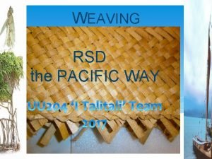 WEAVING RSD the PACIFIC WAY UU 204 PACIFIC