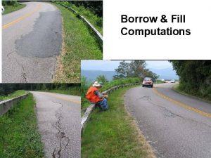 Borrow Fill Computations Cut and Fill Slopes FHWA