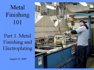 Metal Finishing 101 Part 1 Metal Finishing and