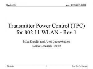 Month 1998 doc IEEE 802 11 00190 Transmitter