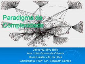 Paradigma da Complexidade Jaime da Silva Brito Ana
