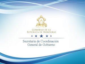 Secretaria de Coordinacin General de Gobierno Direccin Presidencial
