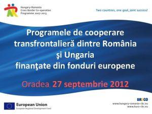 Programele de cooperare transfrontalier dintre Romnia i Ungaria