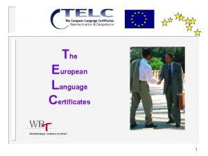 The European Language Certificates 1 Polityka edukacyjna w
