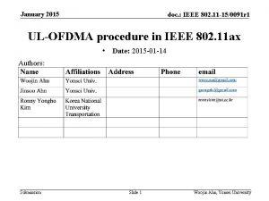 January 2015 doc IEEE 802 11 150091 r