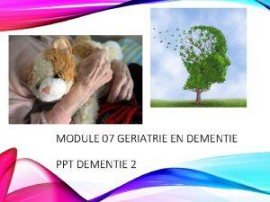 MODULE 07 GERIATRIE EN DEMENTIE PPT DEMENTIE 2