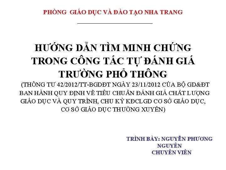 PHNG GIO DC V O TO NHA TRANG