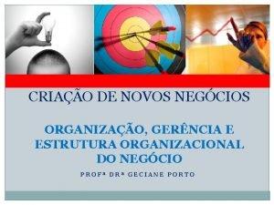 CRIAO DE NOVOS NEGCIOS ORGANIZAO GERNCIA E ESTRUTURA