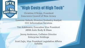 High Costs of High Tech Christine OBrien President