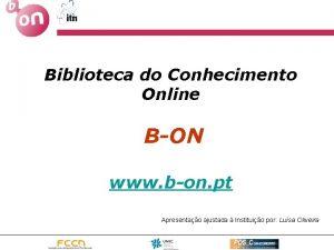 Biblioteca do Conhecimento Online BON www bon pt