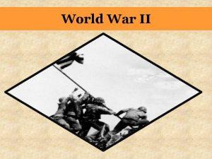 World War II NATURE IS CRUEL SO WE
