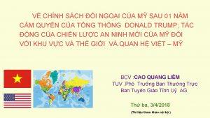 V CHNH SCH I NGOI CA M SAU