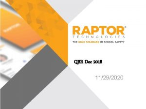 QBR Dec 2018 11292020 Introductions Name Role Where