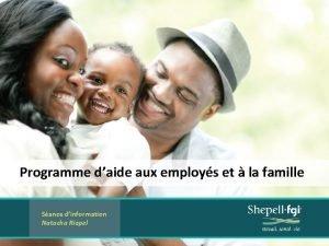 Programme daide aux employs et la famille Sance