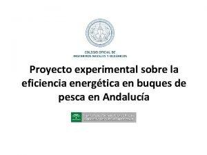 Proyecto experimental sobre la eficiencia energtica en buques