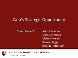 Zaras Strategic Opportunity Green Team 2 Aditi Bhalerao