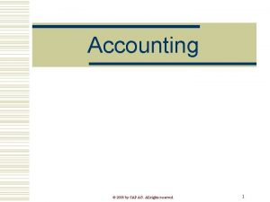 Accounting 2008 by SAP AG All rights reserved