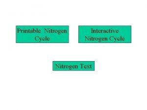 Printable Nitrogen Cycle Interactive Nitrogen Cycle Nitrogen Text