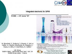 Integrated electronic for Si PM KOBE 29 June
