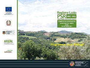 Programma Lazio 30 Mega Banda Ultra Larga Programma