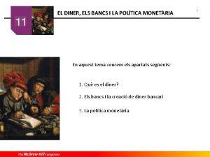 ELDINER ELSBANCS I LA POLTICA MONETRIA EL I