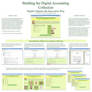 Building the Digital Accounting Collection Digital Libraries the